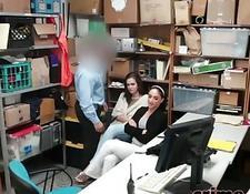 Sexy Sekretärin Quickie vor der Arbeit