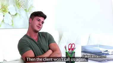 weibliche agent gemacht kerl zu cum auf casting